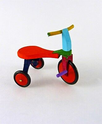 Dollhouse Miniature Baby Childs  Small Toy Tricycle in Red ~ IM65151