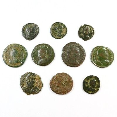 Ten (10) Nicer Ancient Roman Coins c. 100 - 375 A.D. Exact Lot Shown rm3331