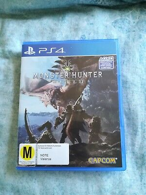 Monster Hunter World Sony PlayStation 4 PS4 Video Game Used