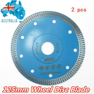 125mm(5'') Turbo Ultra Thin Tile Dry Diamond Wheel Disc Blade Cutting Grinder AU