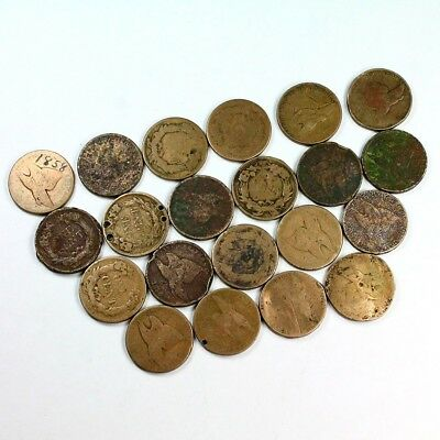 Group Lot of 21 Cull Flying Eagle Cents - Exact Lot Shown - 3062