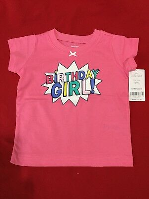 Carters 9 Months Girl Happy Birthday T Shirt Pink