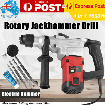 1850W Electric Rotary Drill Jack Hammer kits Concrete Drill Demolition Tool AUS