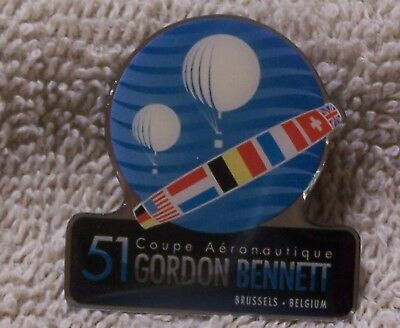 51 Coupe Aeronautique Gordon Bennett Brussels Belgium 086 Balloon Pin