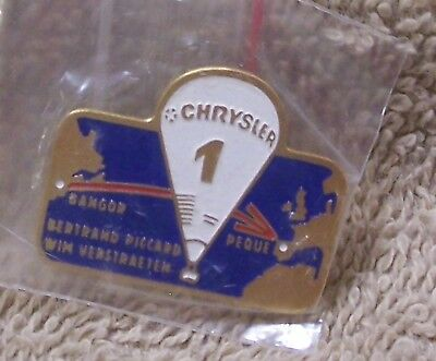 Chrysler 1 Bangor Peque Bertrand Piccard Wim Verstraeten Balloon Pin