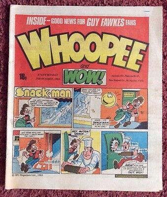 Whoopee And Wow Comic 29 October 1983. Unsold Newsagent Stock. Unread. V/fn+