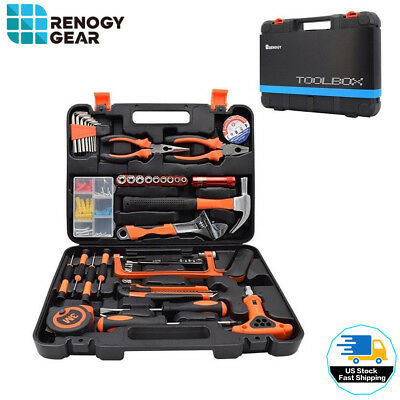 46 Pieces Tool Set Box Kit Household Hand Repair Combination Package(Open Box)