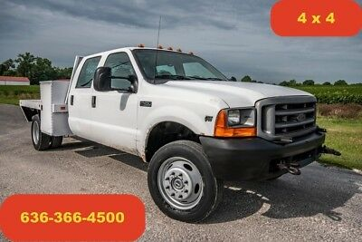 2001 Ford F450 xl Used flatbed 4wd v10 crew cab automatic 1 owner work truck
