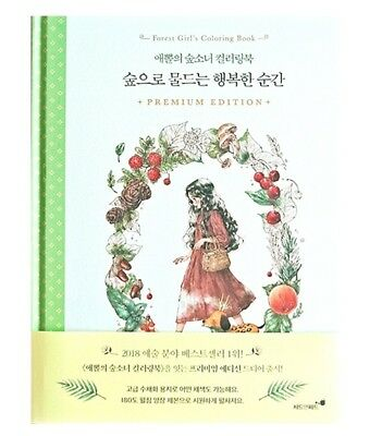 Forest Girls Coloring Book Painting Aeppol Art Hardcover Books Children Edition