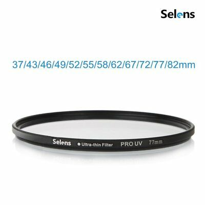 Selens Ultra-thin UV Threaded Lens Filter Protection Cover for Sony Canon Nikon