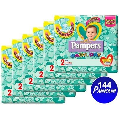 144 Pampers Baby Dry 2 Mini