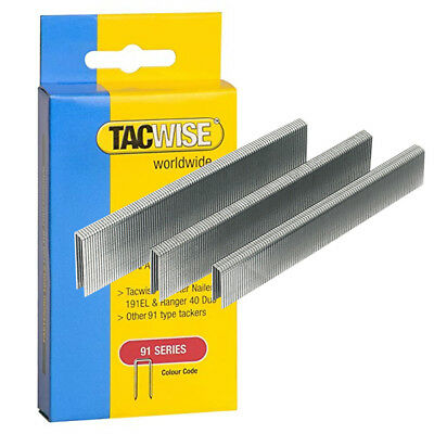 Tacwise Type 91 Series Staples Galvanised Standard or Divergent Point 15-45mm