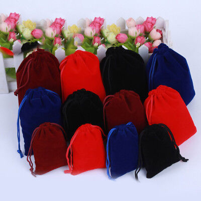 10pc Packing Drawstring Velvet Pouch Sachet Gift Bag Rope Jewelry Party Storage