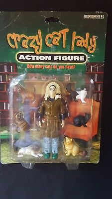 Crazy Cat Lady 7 Piece Action Figure Set - Brand New! IN BOX By Accoutrements