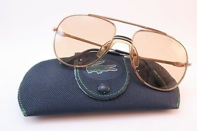 Vintage 70s Lacoste sunglasses Mod 101 size 57-17 glass lens made in France