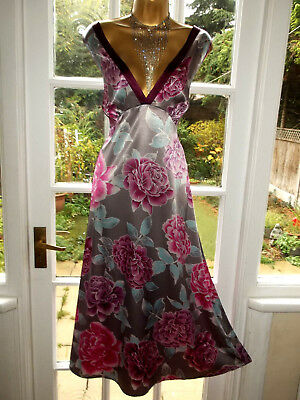 Vintage Style Per Una Slippery Satin Nightie Nightdress Gown UK20 Tall Girl
