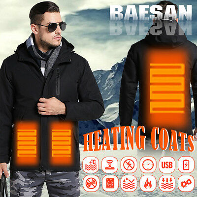Man Woman Electronic Intelligent Heating USB Hooded Heated Work Jacket Coats