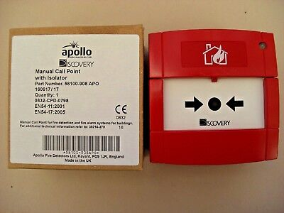 £60 Apollo 58100-908 APO XP95 Discovery Addressable Call Point