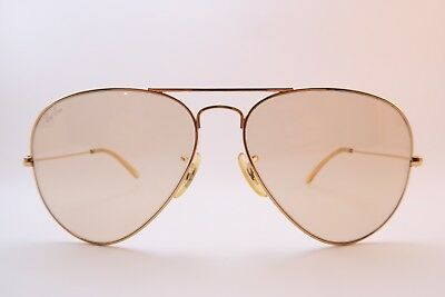 Vintage B&L Ray Ban aviator sunglasses 58-14 etched BL glass lens USA *****
