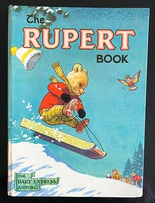 RUPERT ORIGINAL ANNUAL 1956 Inscribed Not Price Clipped Painting untouched VG/F