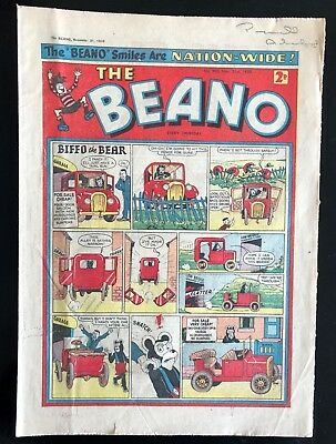 THE BEANO COMIC 21st NOVEMBER 1959 VG CONDITION