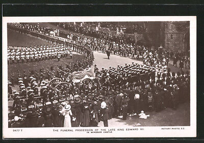 AK The funeral procession of the late King Edward VII., in Windsor castle