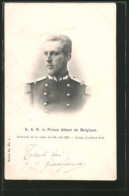 AK S. A. R. le Prince Albert von Belgien in Uniform