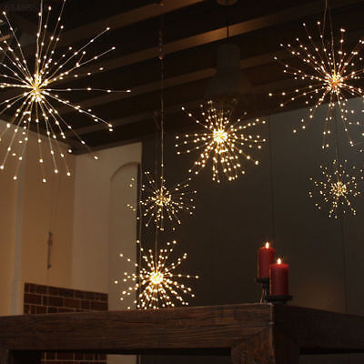 Firework LED Copper Wire Strip Fairy String Warm Light Wedding Party Decor Lamp#