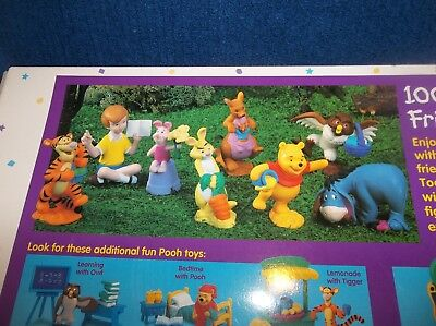 Pooh 100 Acre Wood Friends 1998 New in unopened Box 8 Collectible Figures #66737