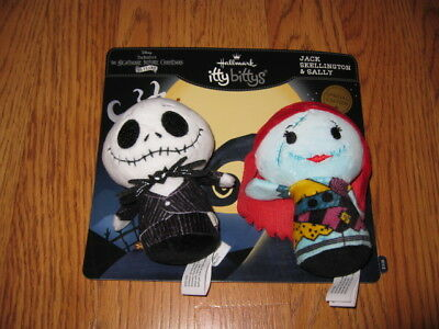 2 Hallmark Itty Bittys Jack Skellington and Sally New Special Edition