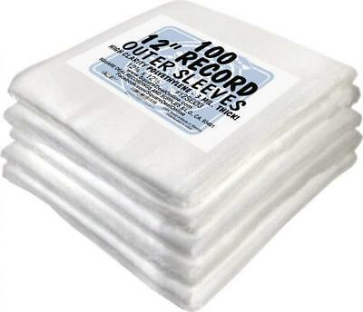 """(500) 12"""" Record Outer Sleeves - INDUSTRY STANDARD 3mil Thick Polyethylene -..."""