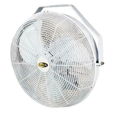 J and D POW18 18 In. White Indoor & Outdoor Wall Ceiling Or Pole Mount Fan