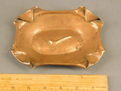 Antique Arts & Crafts Hand Hammered Copper Pipe Ashtray