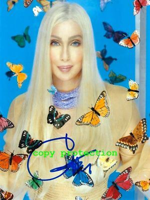 G11-2123 Cher, Autogramm Foto, 11x15 cm, The verry best of, Strong Enough