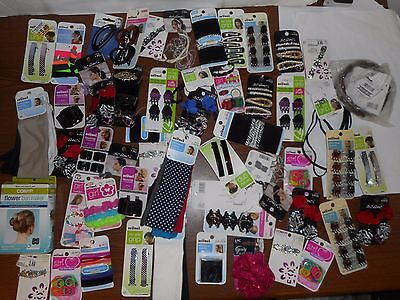 Lot Of 55 Assorted Name Brand Hair Accessories