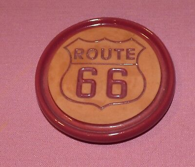 Frankoma Pottery Route 66 Terracotta Coaster
