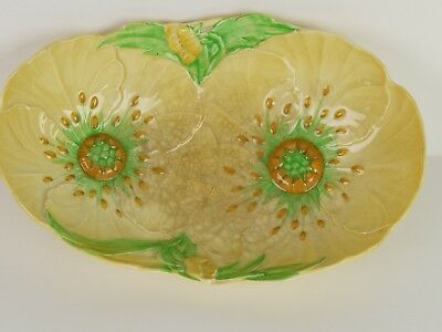 Vintage Carlton Ware 'Australian Design' Yellow Buttercup Embossed Fruit Bowl