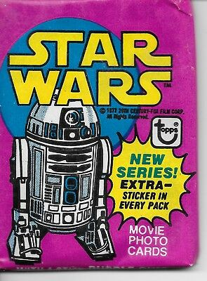 1977 Topps STAR WARS Series 3 Wax Pack one pack price!