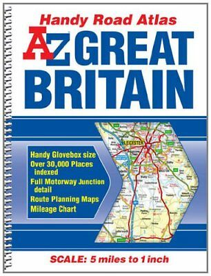(Good)-Great Britain Handy Road Atlas (A-Z Road Atlas) (Spiral-bound)-Geographer