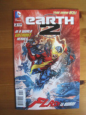 EARTH 2    #  2.  2nd PRINT. By JAMES ROBINSON & SCOTT. THE NEW 52.    DC   2012