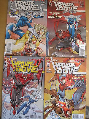 HAWK & DOVE  1,2,3,4  by ROB LIEFELD & STERLING GATES. DC.THE NEW 52. 2012