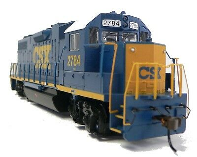 HO Scale Model Railroad Trains Layout Engine CSX GP-38-2 DC Locomotive 61714