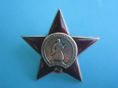 Original Russian USSR Soviet Order of the Red Star Medal Badge, WW2
