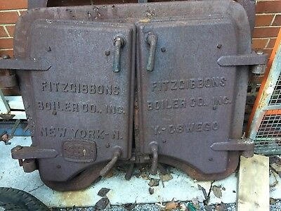 Antique Boiler Doors With Frame