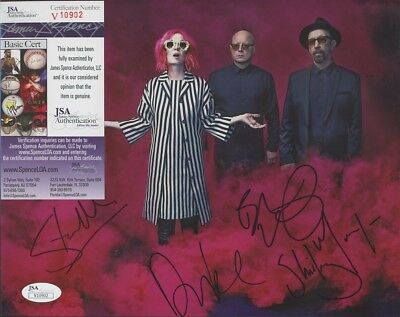 GARBAGE Band Signed Autographed SHIRLEY MANSON + 3 8x10 Photo JSA