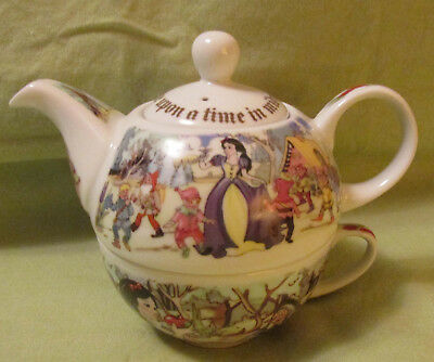 Paul Cardew Snow White Tea For One China Teapot Cup Set England Once Upon a Time