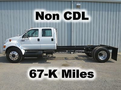 F650 Cat Diesel 4 Door Crew Cab  Chassis Straight Frame Truck 67-K Low Miles