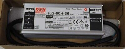 HLG-60H-36 MEAN WELL 36V 1.7A 61.2W Single Output Power Supply~~~~~~~~~~~NEW~~~