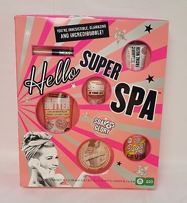 Soap And Glory Hello Super Spa Bath And Body Gift Set Xmas Gift