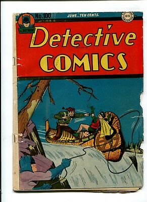 Detective Comics #100 VINTAGE Batman DC Comic Golden Age 10c Robin